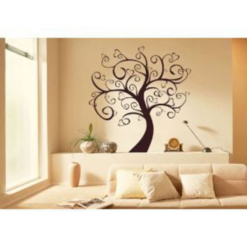 Tree of Love Wall Art Vinyl Stickers, Living Room, Office, Bedroom, Sizes and Colours Available, Apply in 5 minutes, FREE Applicator - Medium 58cm x 58cm Dark Blue: Amazon.co.uk: Kitchen  Home