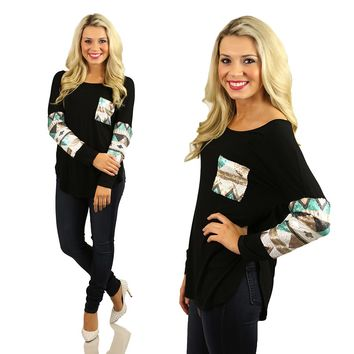 Tres Chic Tribal Touches Top