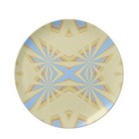 Pretty Snowflake-Style Abstract Party Plates from Zazzle.com