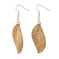 GOLDEN GRASS LEAF EARRINGS | Jewelry, Renewable Material, Made in Brazil, Summer Accessories | UncommonGoods