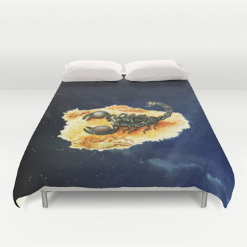 Scorpion Duvet Cover by Erika Kaisersot