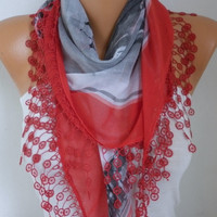 New Year's Fashion Scarf Valentine's Day Gift  Shawl Oversized Scarf Necklace Cowl Scarf Cotton Gift Ideas for Her Women Fashion Accessories