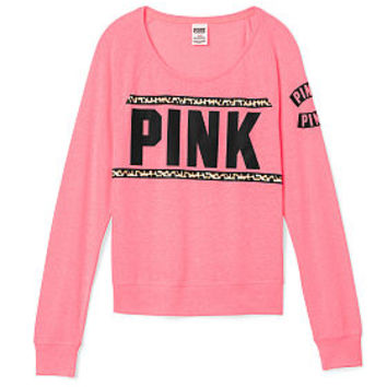Bling Long Sleeve Raglan Tee - PINK - Victoria's Secret
