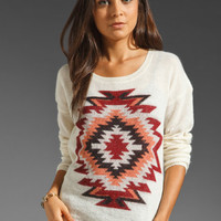 Maison Scotch Ikat Moif Sweater in Ivory from REVOLVEclothing.com