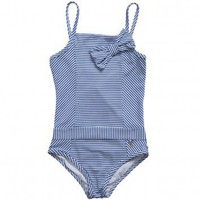 Dior Girls Stripe Swim Suit  | Childrensalon