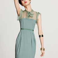 Philosophy di Alberta Ferretti Ruffle Sleeve Dress with Tie - Designer Shop: Paradox - Bloomingdales.com