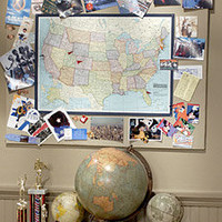 Map Memory Board - Martha Stewart Crafts