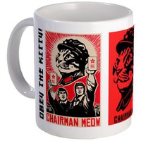 Chairman Meow - Cat Revolution Coffee Small Mug by dogs_of_war| CafePress.co.uk