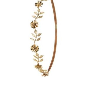 Metal Daisy Head Wrap by Charlotte Russe - Gold