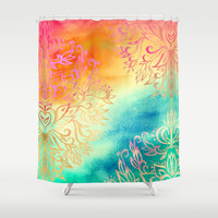 Watercolor Wonderland Shower Curtain by Micklyn