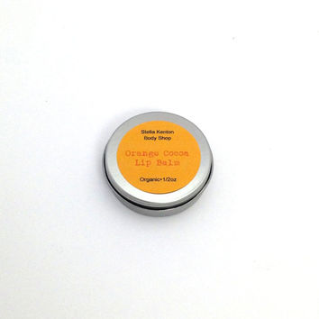 Organic Orange Cocoa Lip Balm, Cocoa Butter
