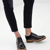 Totokaelo - Dries Van Noten Black Lace Up Derby - $500.50