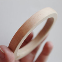 10 mm Wooden bracelet unfinished round - natural eco friendly GA10A
