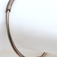 Copper Wire Wrapped Bangle (14 Gauge)