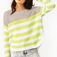 Mesh Stripe Knit
