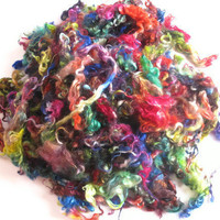 Hand Dyed Curly Cotswold Locks - Rainbow Colored