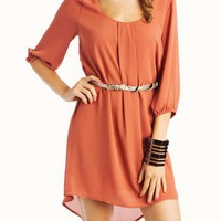 chiffon-belted-dress NAVY RUST WINE - GoJane.com