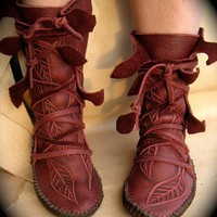 NEW Elf Wrap Moccasins by TreadLightGear on Etsy