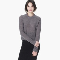 CROPPED BOUCLE SWEATER