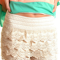 Kerry Shorts Ivory - Online Shopping for Dress, Shop Dresses in Singapore &amp; International