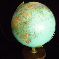 Globe World Globe with Topography