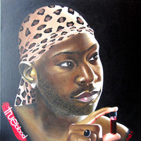 True Blood - Lafayette Custom Portrait - WHO Can I Paint For You Original One Of A Kind  Acrylic Painting