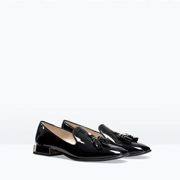 PATENT SLIP-ON SHOES