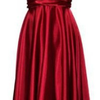 Marilyn Satin Halter Bridesmaid Dress Junior Plus Size Holiday Prom Gown $69.99