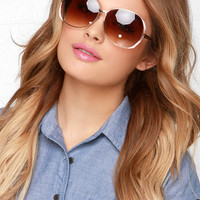 Lens Dance Gold and Blush Sunglasses
