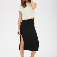 High Slit Midi Skirt