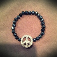 Silver Peace Bracelet from La Fede Boutique