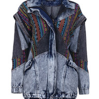 ROMWE | Detachable Sleeves Denim Coat, The Latest Street Fashion