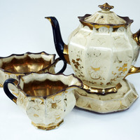 Tea Set Antique Early Victorian Tea Set by Yonks on Etsy