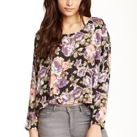 Lucca Couture | Lucca Couture Long Sleeve Floral Blouse | Nordstrom Rack