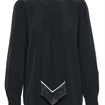 Silk Top with Necktie - GIVENCHY