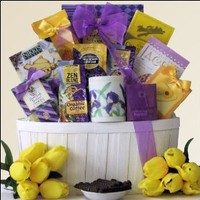 Zen Blend: Gourmet Coffee & Tea Gift Basket $59.99