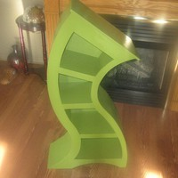 4ft Curved Shelf Green by WoodCurve on Etsy