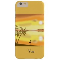 Tropical Beach At Sunset add monogram, name front