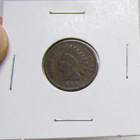Vintage Indian Head Penny 1899 (You Grade)( In 2X2 Holder)