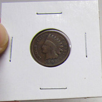 Vintage Indian Head Penny 1896 (You Grade)( In 2X2 Holder)