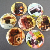 Camera Magnets   fits magnabilities by PipingHotPapers on Etsy