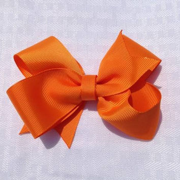 "Tangerine 3"" boutique hairbow"