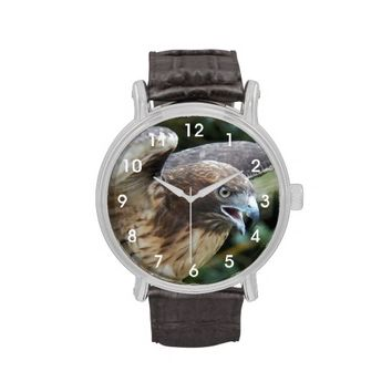 Red-Tailed Hawk Wrist Watch