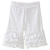 Love U Lots Baby-girls Infant White Ruffle Yoga Capri $30.00