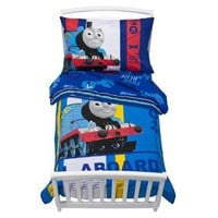 Thomas the Train Toddler Bedding 4 Piece Set - Blue $39.50