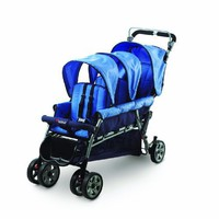 Foundations Trio Triple Tandem Stroller, Blue $332.00