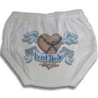 Light of Mine Designs Heart Breaker Boy Diaper Cover/Panty Brief, 12 Months $17.50