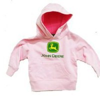John Deere Little Girls Hooded Sweatshirt Pink $18.99