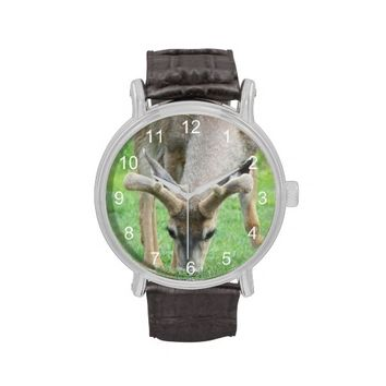 Grazing Deer Wrist Watch