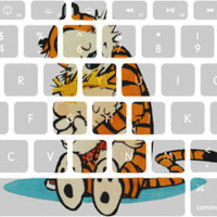 Classic Calvin and Hobbes Friendship Macbook Keyboard Stickers